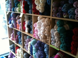Yarn on shelf